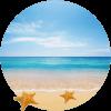 Aromatická visačka s vůní oceán